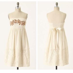 Zehavale Embroidered Floral Freesia White Dress 8